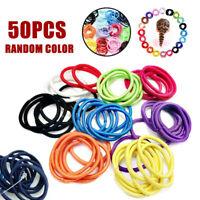 50Pcs Bande Élastique Caoutchouc Cravate Cheveux Multicolore Gencive Minuscules