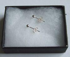 New Sterling Silver 925 3mm Ball stud earrings free post