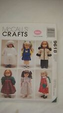 """McCall's Sewing Pattern 18"""" Doll Clothes 9618  New Uncut"""