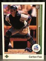 1989 Upper Deck Carlton Fisk Baseball Card Chicago White Sox MLB #609 Mint HOF