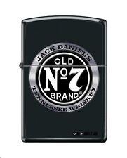 Zippo 4418, Jack Daniels Tennessee Whiskey Old No. 7, Black Matte Finish Lighter