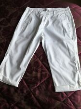 White M And S Cropped Trousers Size 12