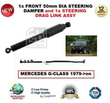 FOR MERC G CLASS 1x FRONT 50mm DIA STEERING DAMPER + 1x STEERING DRAG LINK ASSY