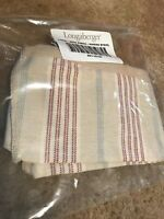 New Longaberger Back Porch Fabric Liner In Awning Stripe For Basket