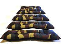 Letto cuscino Cuccia Branda per cane o gatto lettino Camouflage Mimetico