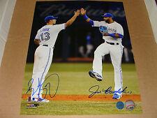 Toronto Blue Jays Brett Lawrie Jose Bautista Dual Signed MLB Baseball 11x14 Pic