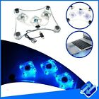 SUPPORTO NOTEBOOK NETBOOK 3 VENTOLE LED BLU USB RAFFREDDAMENTO PC DISSIPATORE