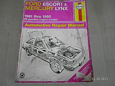 1981-90 Ford Escort & Mercury Lynx Repair Manual