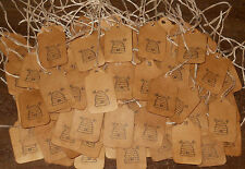 WHOLESALE LOT * 100 XSMALL BEE HIVE BEES HANDMADE PRIMITIVE PRICE HANG TAGS #A6