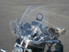 LARGE Touring Windshield for Harley Davidson Sportster Dyna Glide Softail +Mount
