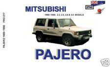 JPNZ Mitsubishi Pajero Mk1 85-90 English Owner Handbook