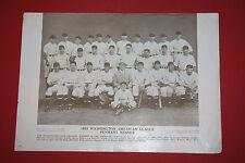 Rare 1910-57 Baseball Magazine Poster Premium M114 1933 Washington Senators Team