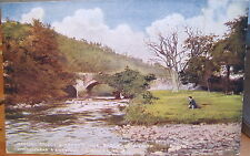 Irish Postcard AVOCA OVOCA River Wicklow Thomas Moore Tree L&NW 1910 Ireland