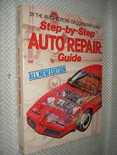 STEP BY STEP AUTO REPAIR CAR & TRUCK BOOK GREAT INFO GM FORD MANUAL SERVICE NR