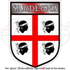 SARDEGNA Scudo SARDO Italiano Adesivo in Vinile Decalcomanie Sticker 100mm