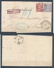 NDB Recobrief Einschreibbrief von Düsseldorf nach Rees 18.4.1871