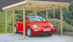 Carport 300x500 cm Einzelcarport Holzcarport Holz Garage Holzgarage Flachdach