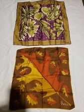 Lot Of 2 Vintage Vera Neumann Silk and polyester Scarves