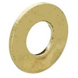 A pack of 10 - M10 x 20mm Solid Brass Flat Washer For Bulb / Lamp Holders