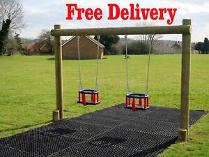 Rubber Grass Mats Heavy Duty Grass Protection Mats 100cmx150cmx22mm 4 FREE Pegs