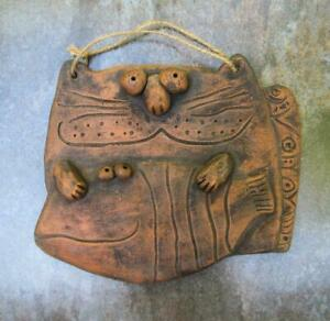 Wall Ceramic For Decor Plaque Vintage Cat Hanging Attractive Handmade Home Gift