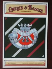 POSTCARD BADGE FOR DUKE OF CORNWALL'S LIGHT INFANTRY