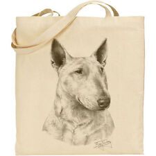 Mike Sibley Bull Terrier dog breed- Reusable Cotton Shopping/Shoulder Tote Bag