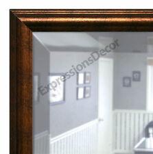 Custom Aquatic Copper Beveled Wall Mirror, Mantle & Bathroom Art Decor 20704-844