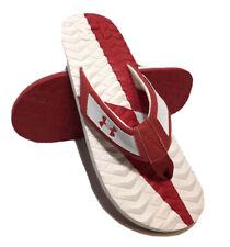 Under Armour Marathon Key III Flip Flop Red/White Sz US7 FREE SHIPPING BRAND NEW