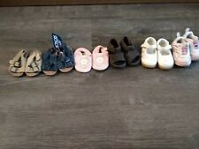 Infant Girls Lot of 6 pairs of shoes - Sizes 1, 2 and 3