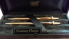 Cross Century Classic 14KT SET 150105 Rolled Gold Filled Gold Pen & Pencil Set