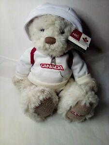 """2005 HBC Vancouver Winter Olympic Team Canada Plush Bear 12"""" with Tag"""