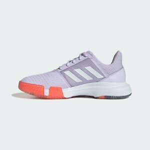ADIDAS CourtJam Bounce W Purple and White Tennis Shoes Brand New No Box