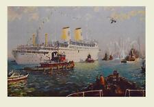 Jack Lorimer Gray Kunstdruck Bild Lichtdruck Luxusdampfer Gripsholm 68x102 cm