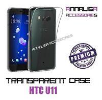 CUSTODIA TRASPARENTE PER HTC U11 COVER PROTEZIONE MORBIDA SILICONE TPU SLIM CASE