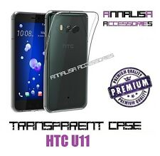 COVER TRASPARENTE PER HTC U11 CUSTODIA SILICONE TPU TRANSPARENT CASE 0,3mm