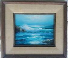 "Beautiful Original Stevens Seascape  Oil Painting  9.5""×7.5"""