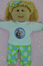 """Play n Wear Doll Clothes To Fit 16"""" Cabbage Patch SPOT PANTS~TOP~HEADBAND"""