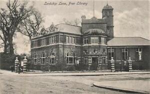 Early DULWICH LIBRARY Lordship Lane LONDON  Postcard