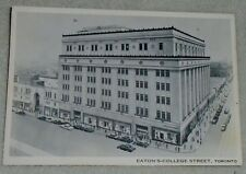 T EATON'S COLLEGE STREET TORONTO VINTAGE 1930 POST CARD NEW RARE COLLECTIBLE