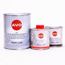 AVO 2K HS 4:1 Grundier Füller wei�Ÿ 1,5 Liter Set inklusive Härter A020410S