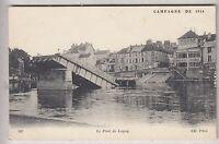 CPA  LAGNY 77 -  GUERRE WAR  LE PONT DE FER DETRUIT SUR LA MARNE 1914 ~B55