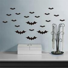 20Pcs Halloween Murciélagos Volando Pegatinas de Pared Decoración De Habitación Decoración Hogar Mural BW
