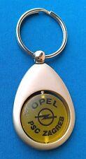 Germany auto car logo OPEL, partners PSC ZAGREB Croatia, Old vintage keychains !