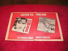 U2 / Marianne Faithfull - 1983 Us Full Double-Page Combo Album Ad Nice!