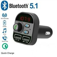 Wireless Bluetooth FM Transmitter MP3 Player Audio Dual USB Freisprechanlage