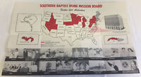 vintage SOUTHERN BAPTIST HOME MISSION BOARD poster ~ Indians,Negroes,Jews...