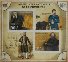 Dalton Mendeleev Curie - Year of Chemistry Science Niger 2011 s/s #P054 IMPERF