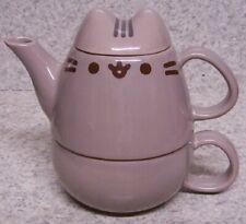 Pitcher Tea Pot & Cup For One Pusheen the Cat NEW w/ gift box 8 oz mug 12 oz pot