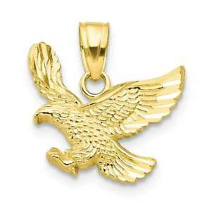 10K Yellow Gold Eagle Pendant 10C1009